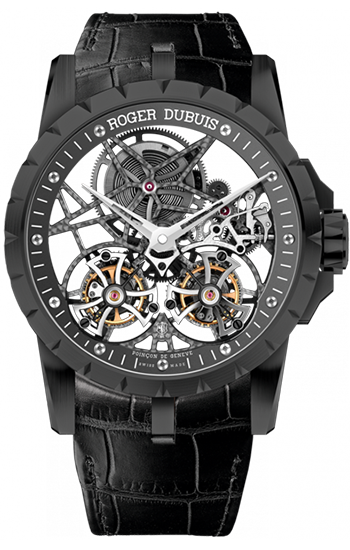 ab7f78ffe1b Roger dubuis excalibur skeleton double flying tourbillon in black png  350x550 Roger dubuis double