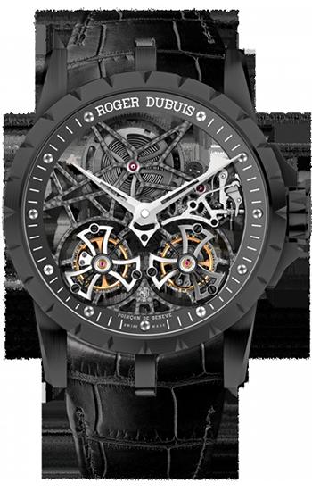82b7e4c6527 ROGER DUBUIS Excalibur Skeleton Double Flying Tourbillon in black titanium  RDDBX0364 ...
